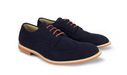 Fera libens men's collection vegan shoes animal free shoes derbies navy blue