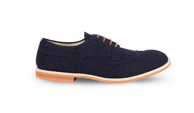 Fera libens shoes man collection vegan eco friendly animal free derby navy blue