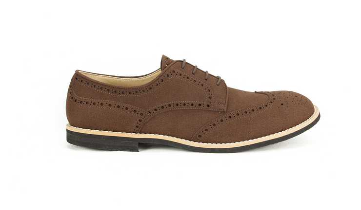Fera libens shoes man collection vegan eco friendly animal free derby coffee brown