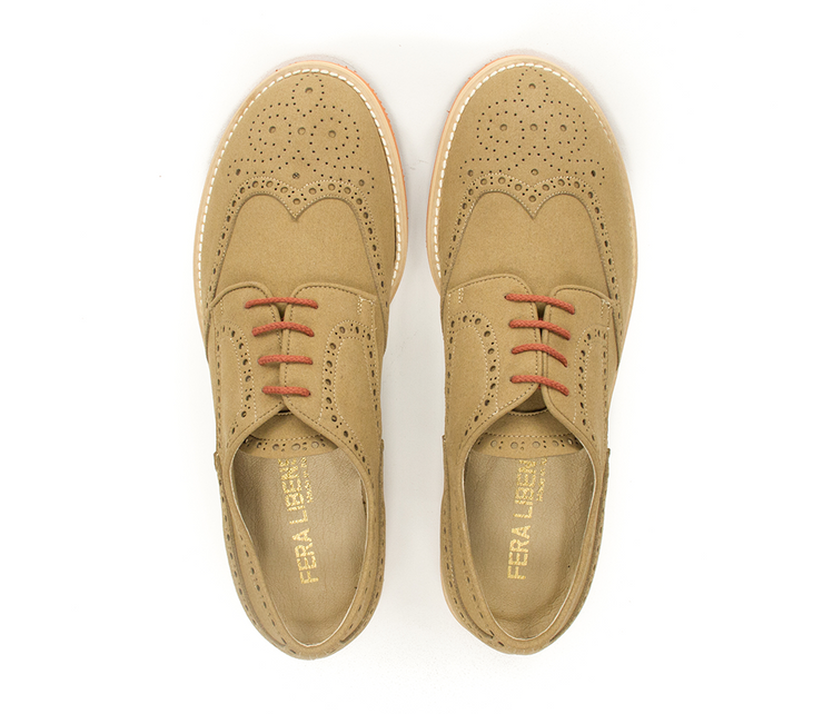 Fera libens shoes man collection vegan eco friendly animal free derby tobacco
