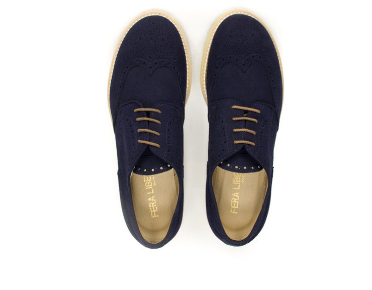 lace up derby fera libens blue navy