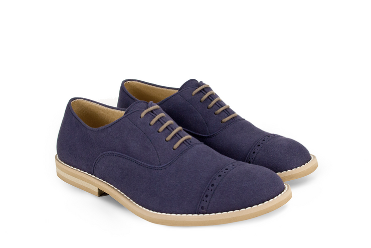Fera libens shoes woman collection vegan eco friendly animal free oxford navy blue