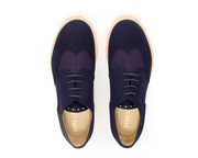 Fera libens shoes woman collection vegan eco friendly animal free derby tweed blue violet