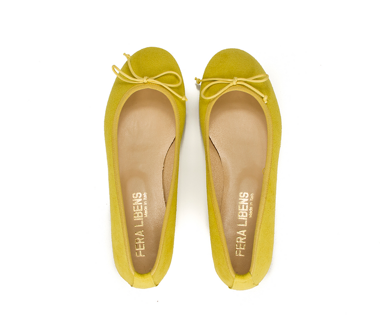 Fera Libens women's collection vegan shoes animal free ballerinas calipso royal yellow