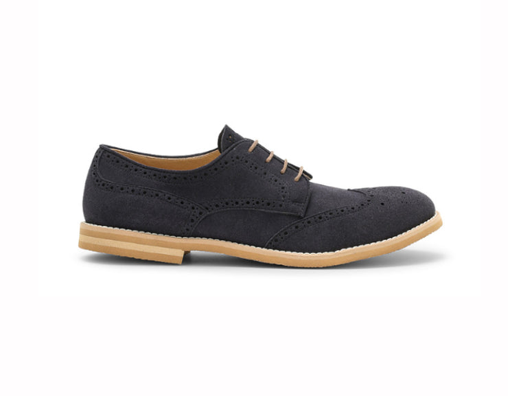Delfo Navy Blue Derbies (beige sole) -50%
