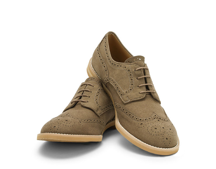 Delfo Light Grey-Green Derbies -50%