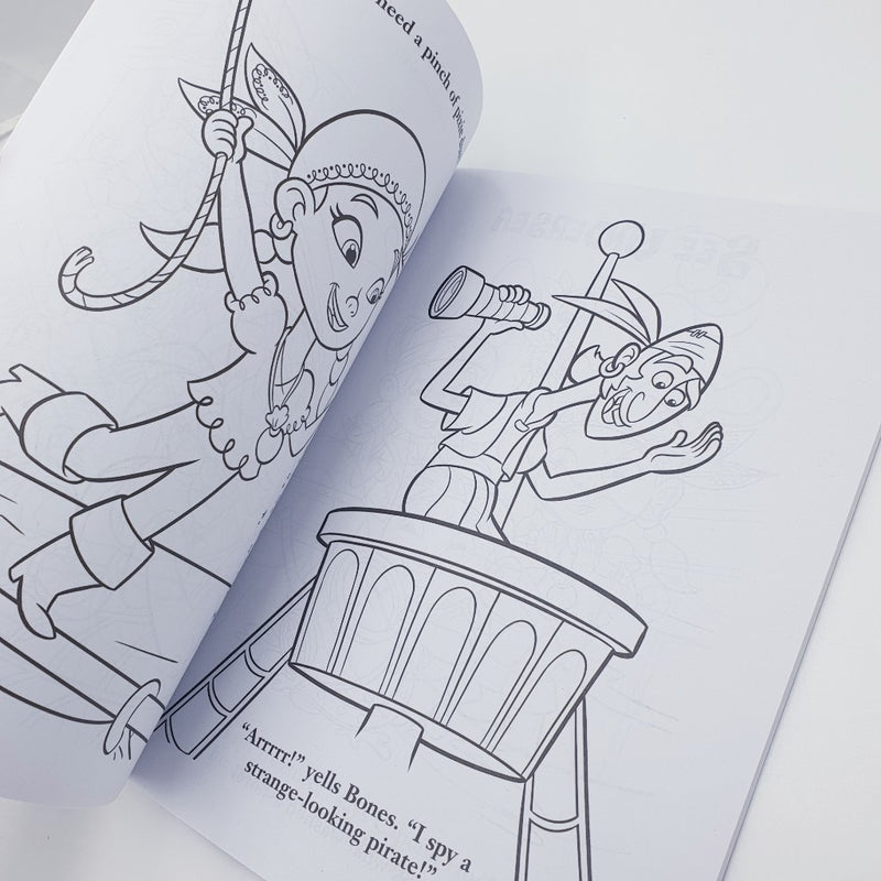 Jake Neverland Pirates Colouring Book