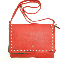 Ivy Red Handbag Diamante