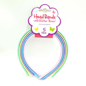 Sparkle Headbands Light 5 Pk