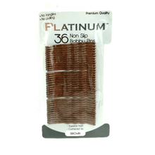 Platinum Non Slip Quality Bobby Pins Brown