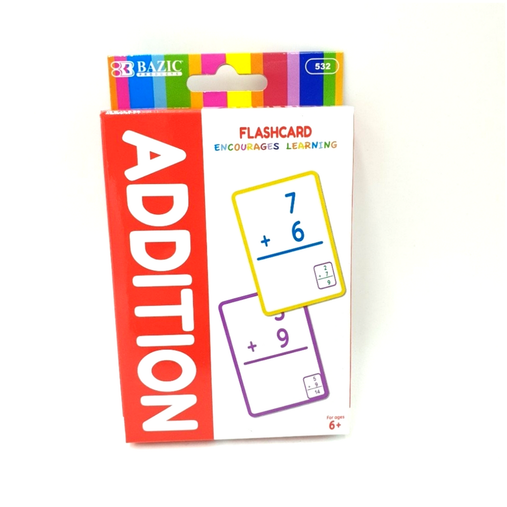 Bazic Addition Flash Card Pack Set of 36