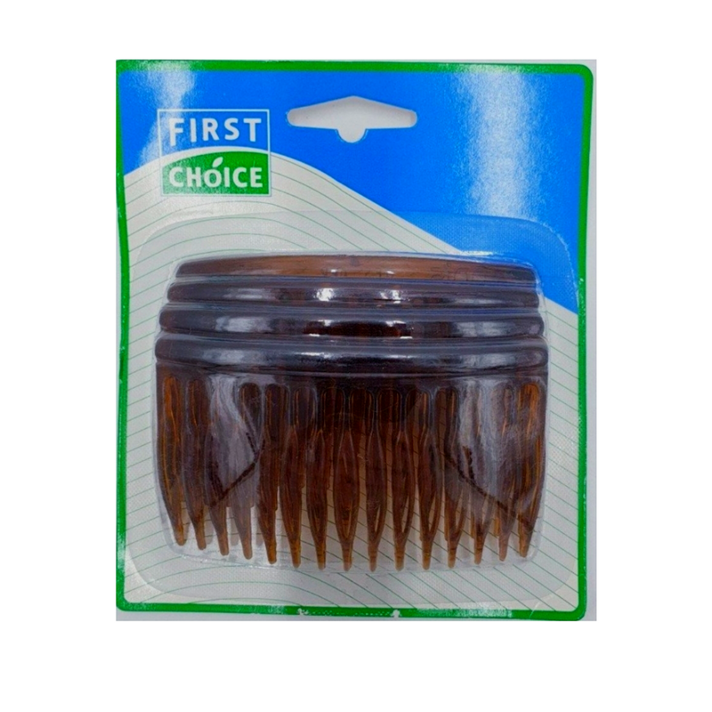 First Choice Hair Combs 4pk - Brown