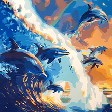 Paint Theropy Paint By Numbers Art Set Dolphin