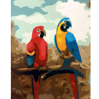 Paint Theropy Paint By Numbers Art Set Parrot