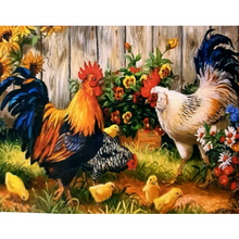 Paint Theropy Paint By Numbers Art Set Rooster