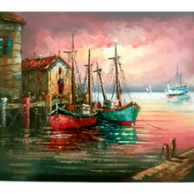 Paint Theropy Paint By Numbers Art Set Boats