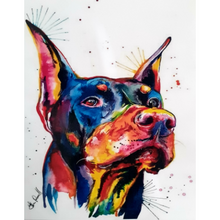 Paint Theropy Paint By Numbers Art Set Doberman