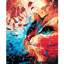 Paint Theropy Paint By Numbers Art Set Gazing Cat