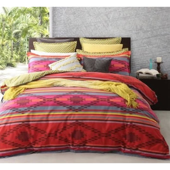 Logan & Mason Pancho Chilli Quilt Cover Set Double