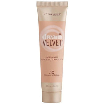 Maybelline Dream Velvet Soft Matte Hydrating Foundation 50 Creamy Natural 30ml