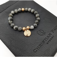 Christian Paul Zebra Stone Rose Gold Bracelet Small