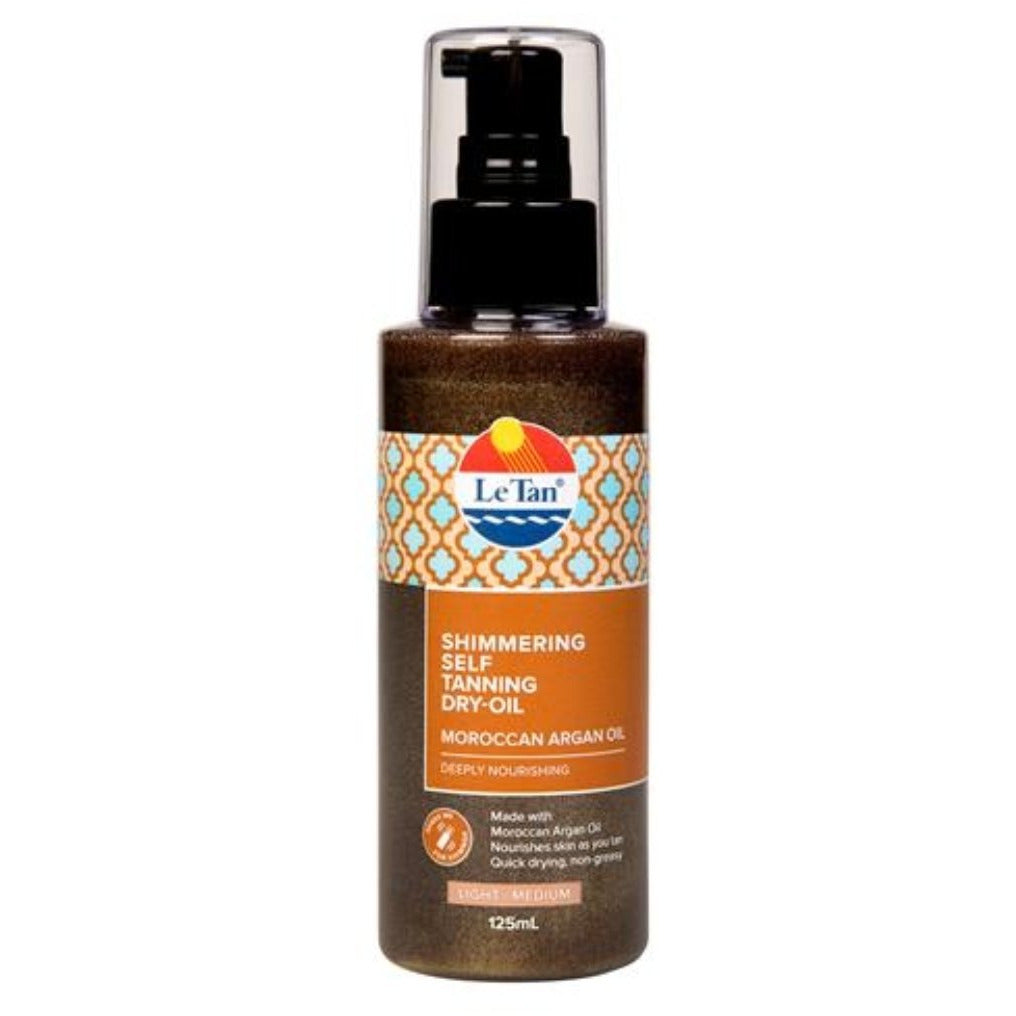 Le Tan Shimmering Self Tanning Dry-Oil Moroccan Argan Oil Light-Medium 125ml