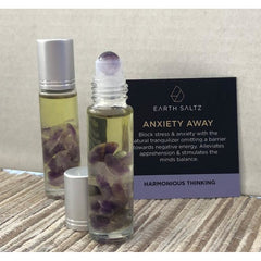Earth Saltz Anxiety Away Amethyst Essential Oil Roller