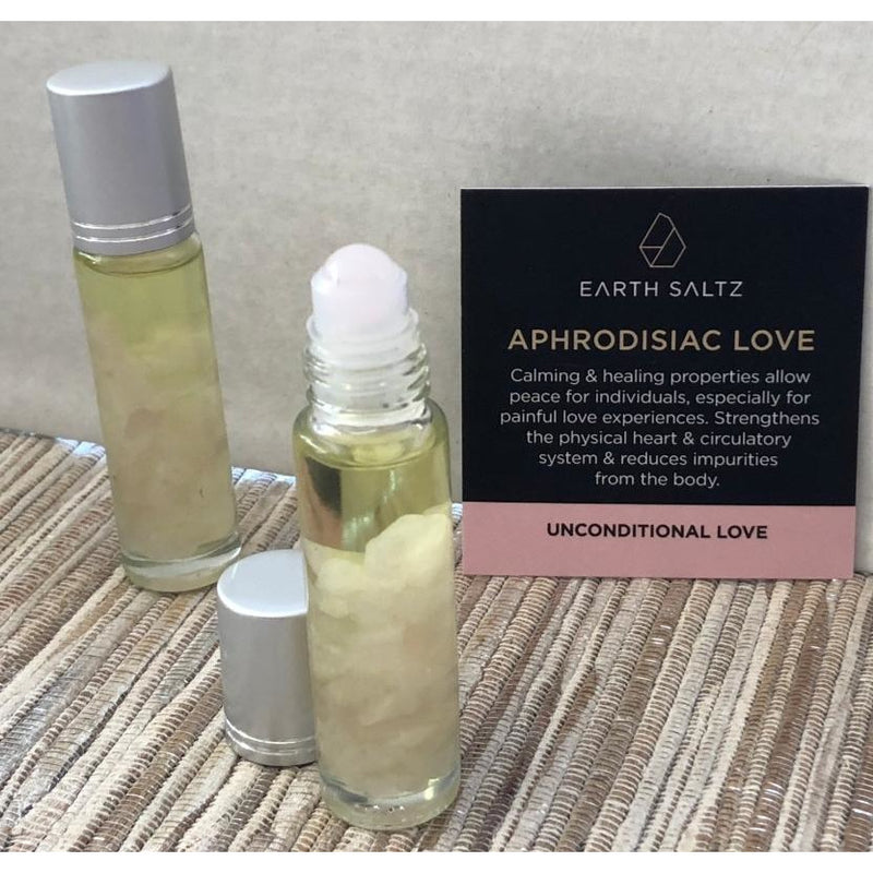 Earth Saltz Aphrodisiac Love Rose Quartz Essential Oil Roller