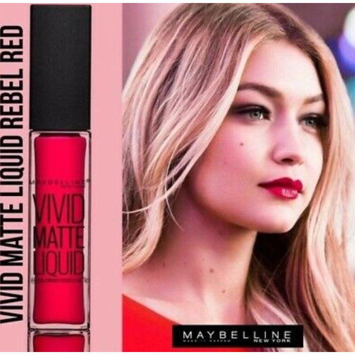Maybelline Vivid Matte Lipstick Rebel Red 35