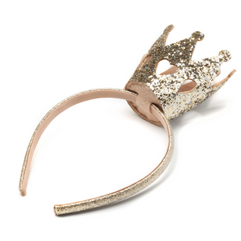 Scunci Crown Glitter Headband Gold