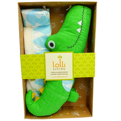 Lolli Living Crocodile Toy and Blankie set