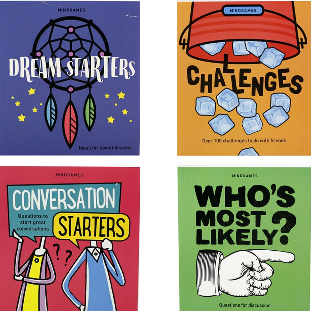 Mindgames - Whos Most Likely - Dream Starters - Conversation Starter - Challenges Book Set