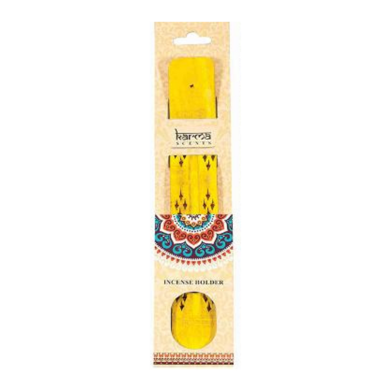 Karma Scents Wooden Incense Holder Yellow