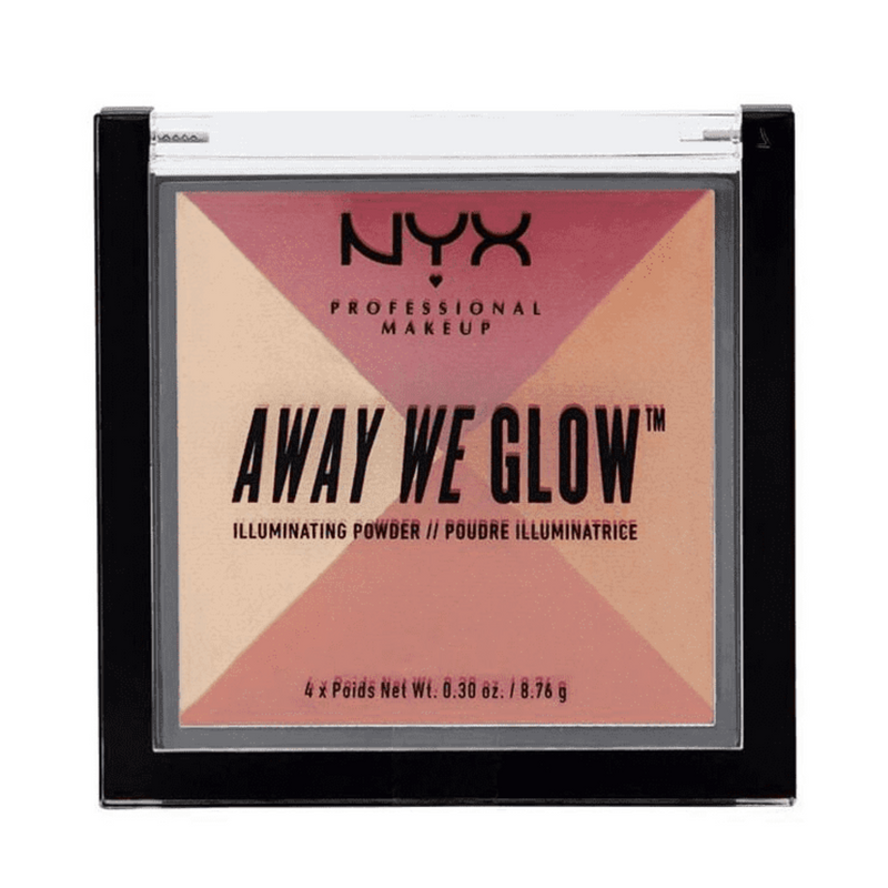 NYX Away We Glow Illuminating Powder Sunset Blvd 05