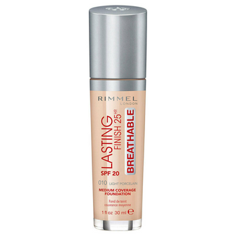 Rimmel Lasting Finish 25hr Foundation SPF20 010 Light Porcelain 30ml