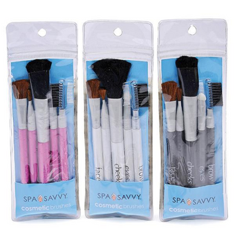 Spa Savvy Cosmetic 5pcs Brush Set