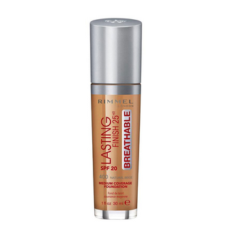 Rimmel Lasting Finish 25Hr Foundation SPF20 400 Natural Beige 30ml