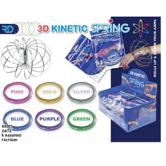 Kinetic Springs 3D Coloured x 10