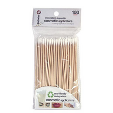 Bio Swiss Wood Stem Disposable Cosmetic Applicators 100 pk