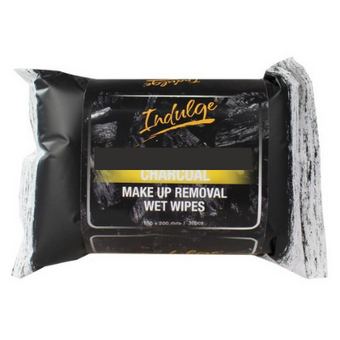 Indulge Charcoal Detoxifying Makeup Removal Wipes 25pk