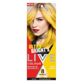 Schwarzkopf Live Ultra Brights Colour Maximum Intensity Semi Permanent Zesty Lemon