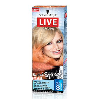Schwarzkopf Live Colour Temporary Pastel Spray Pastel Apricot 125ml