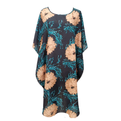 Flower Electric Cotton Dress- Top