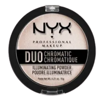 NYX Duo Chromatic Illuminating Powder 04 Snow Rose