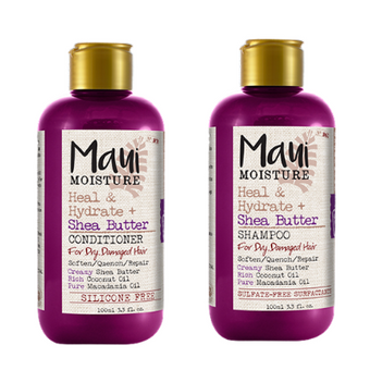 Maui Moisture Shampoo & Conditioner Heal & Hydrate + Shea Butter Dry Damaged Hair 100ml