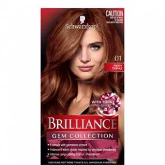 Schwarzkopf Brilliance Permanent Hair Colour Gem Collection Fiery Topaz 01