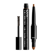 NYX 3-In-1 Brow Pencil / Powder / Mascara 04 Caramel