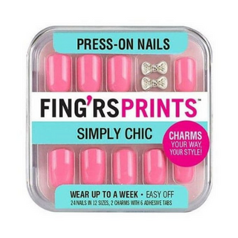 Fing'rs Prints Nail Art Pretty In Pink Nails
