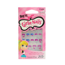 Fing'rs Girlie Nails Little Nails For Little Fingers Comic 24pk
