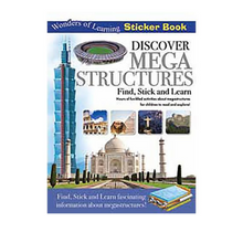 Learn & Discover Mega-structures Find Stick & Learn Book